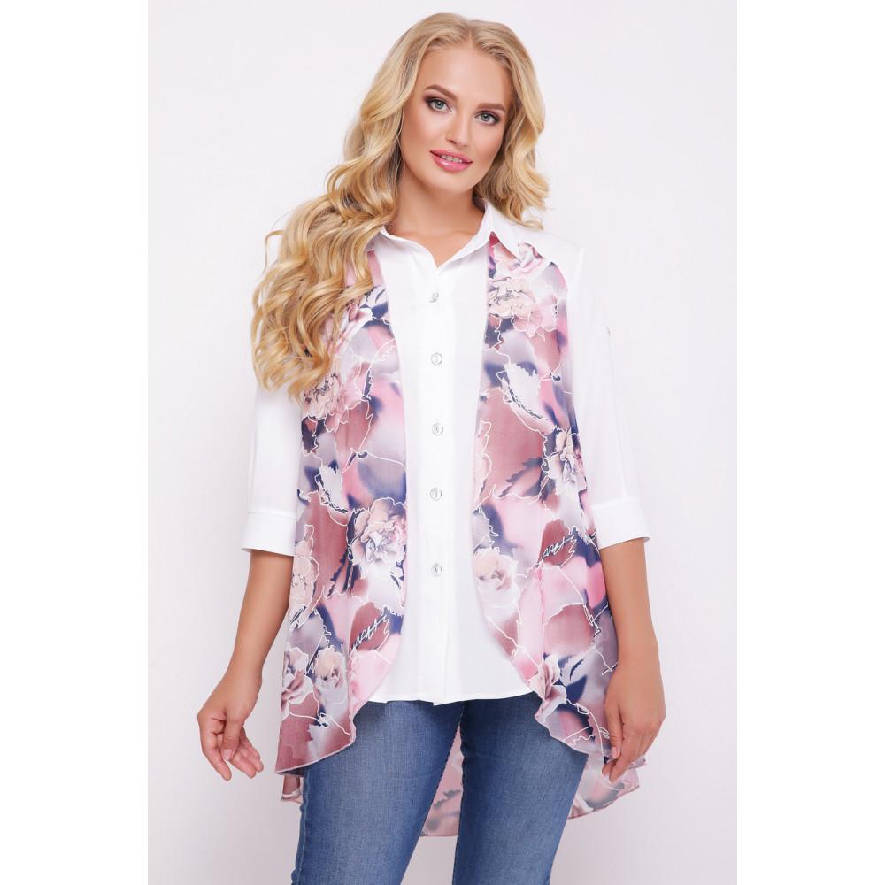 Двойной цветочный блузон Любава фото 1
