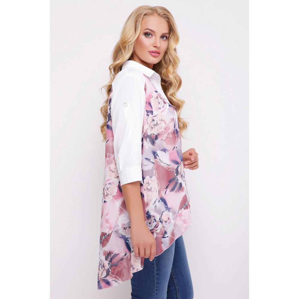 Двойной цветочный блузон Любава фото 2