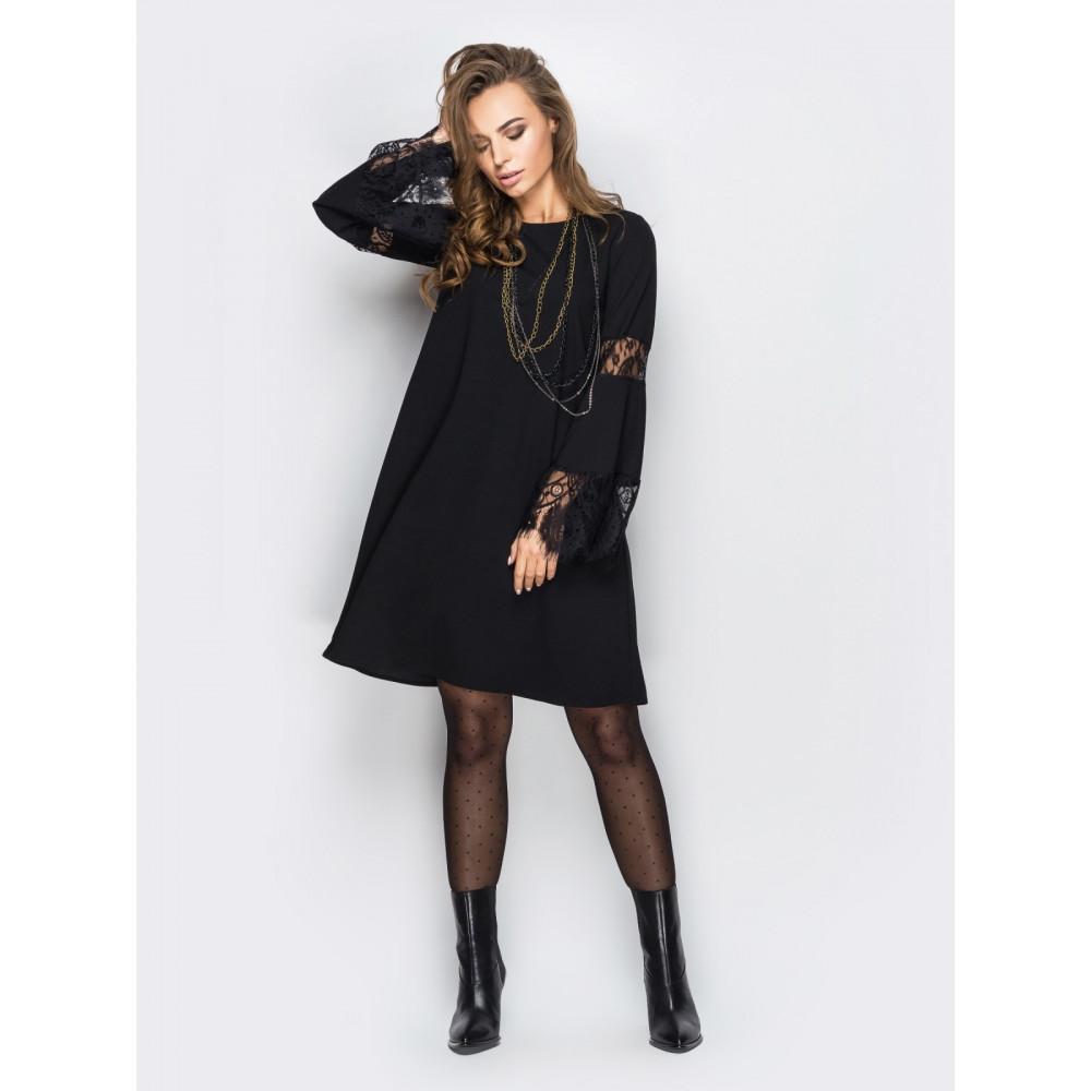 Нарядное черное платье А-силуэта фото 1