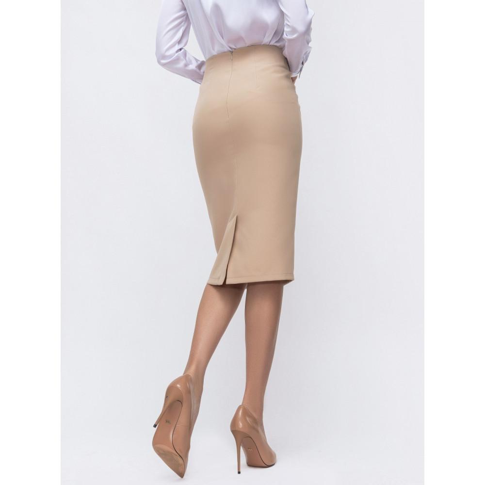 Бежевая юбка с кружевом фото 3