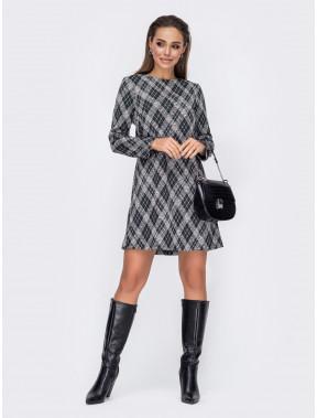 Платье-трапеция из джерси в модный принт Бостон