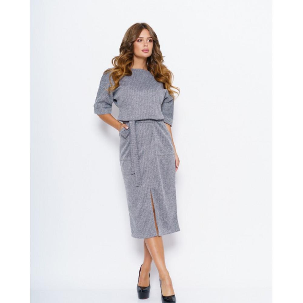 Лаконичное платье с принтом Хлоя фото 1