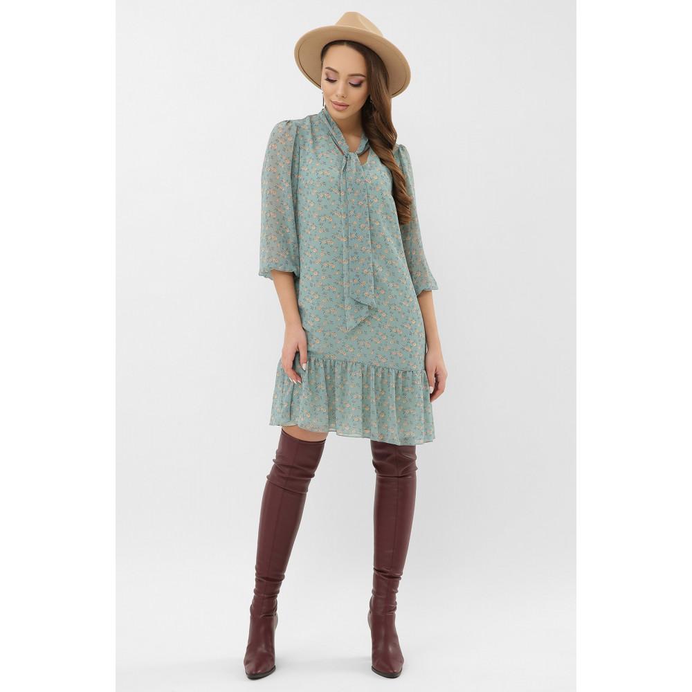 Женственное бирюзовое платье Малика фото 2
