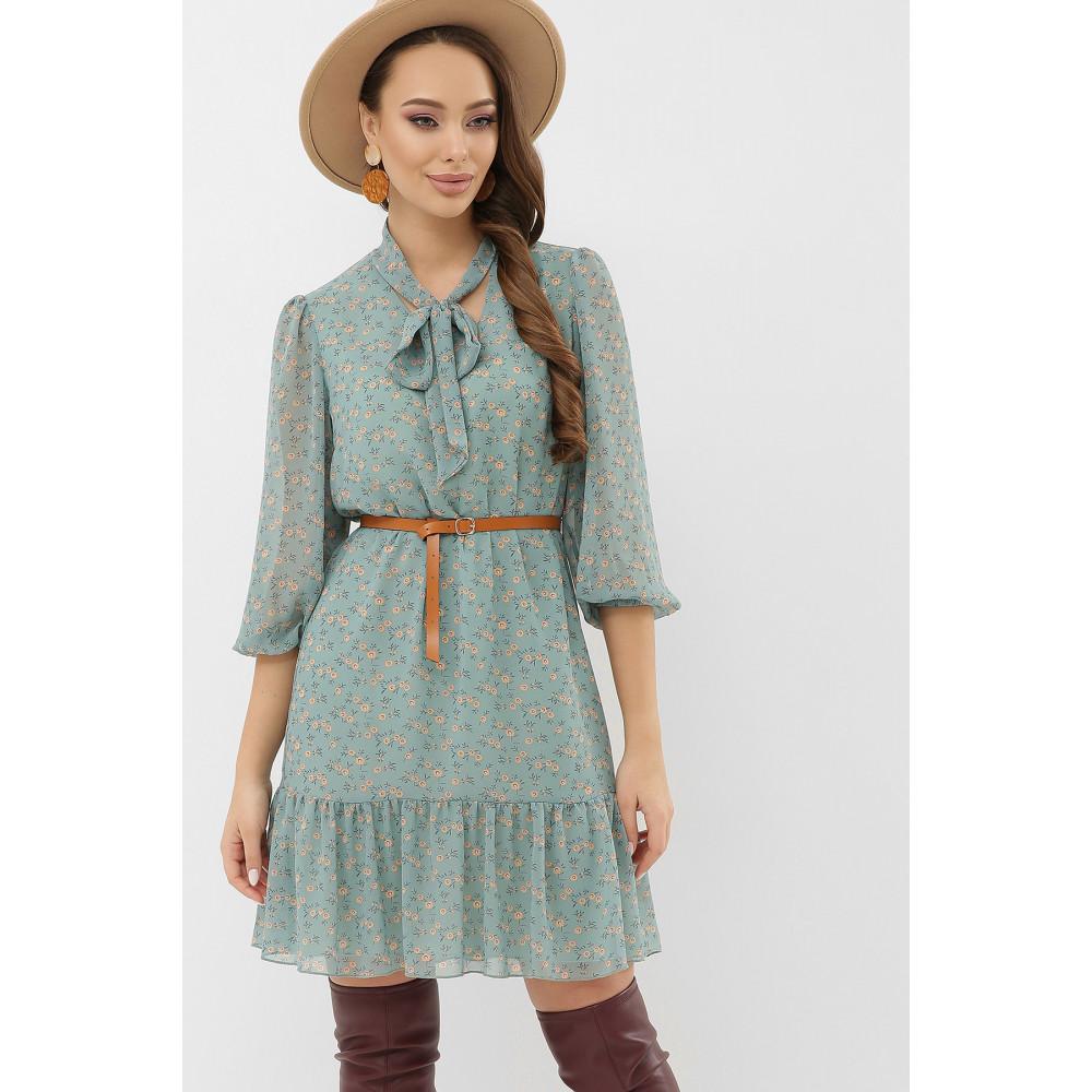 Женственное бирюзовое платье Малика фото 3