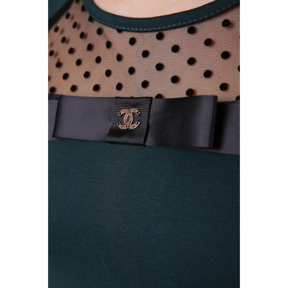 Женская кофта с прозрачной вставкой Хелена фото 4