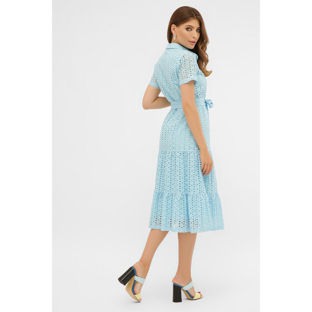 Красивое платье-рубашка из прошвы Уника фото 4