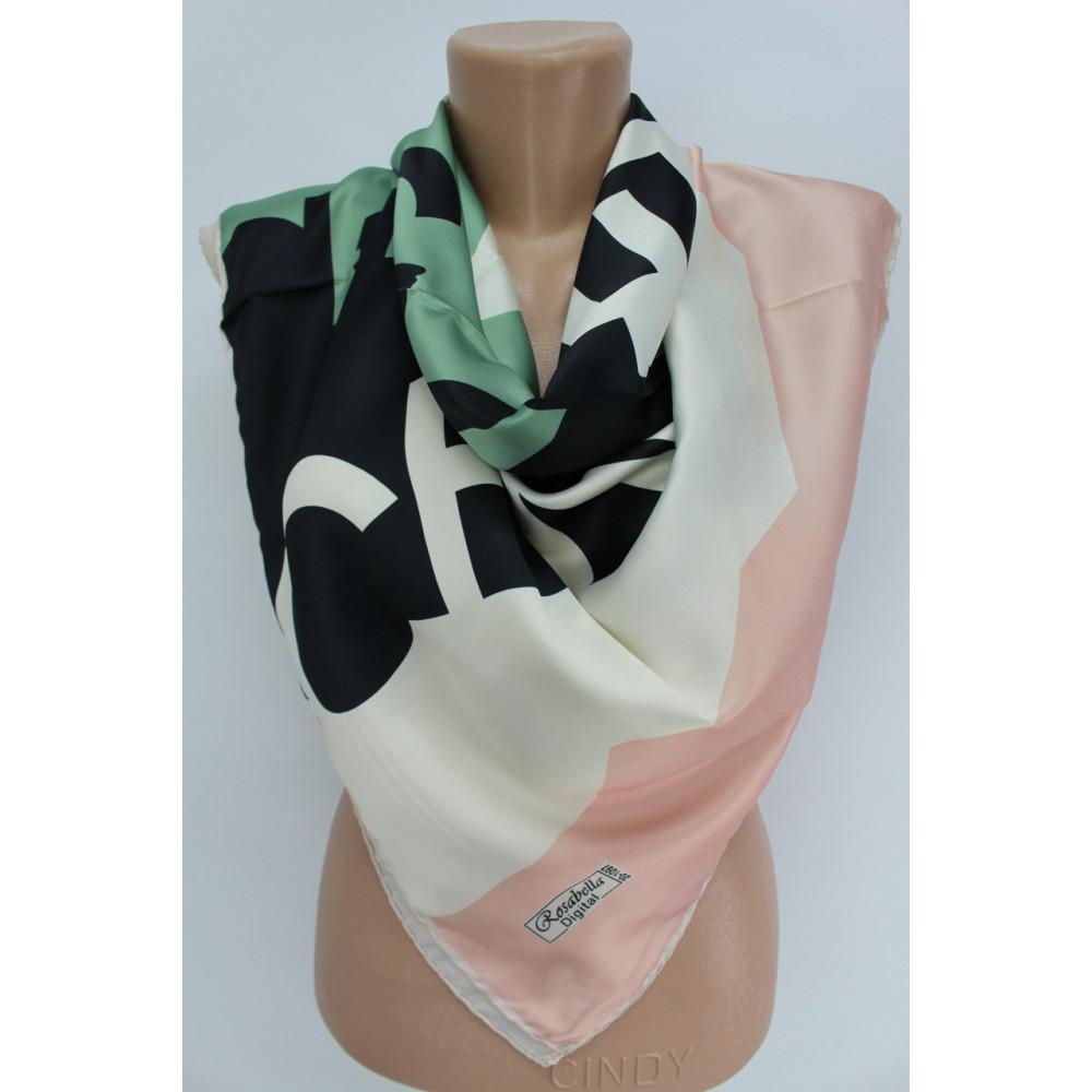 Интересный шелковый платок Chanel фото 1