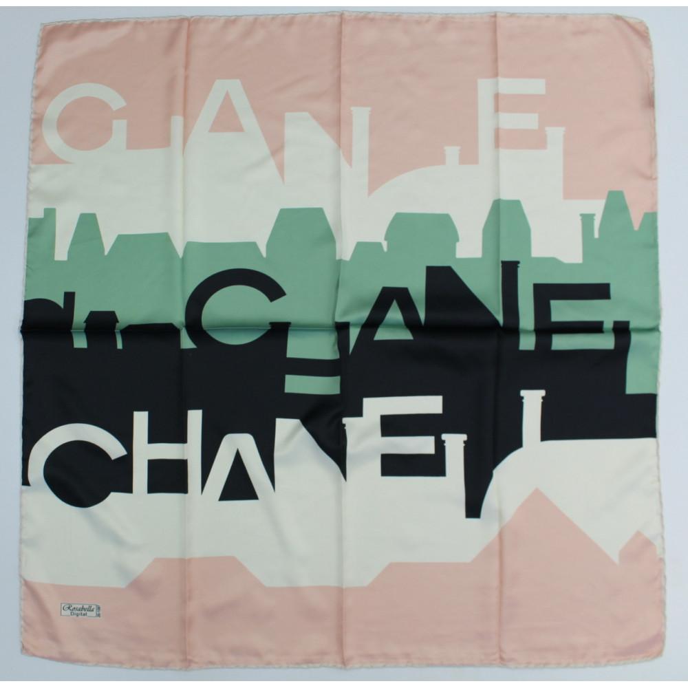 Интересный шелковый платок Chanel фото 3