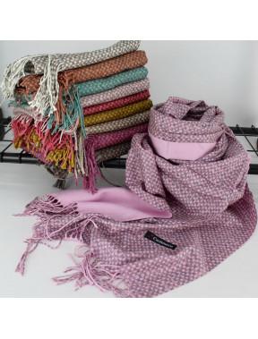 Двусторонний шарф Изольда из кашемира