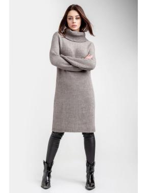 Обьемное вязаное платье Лесли