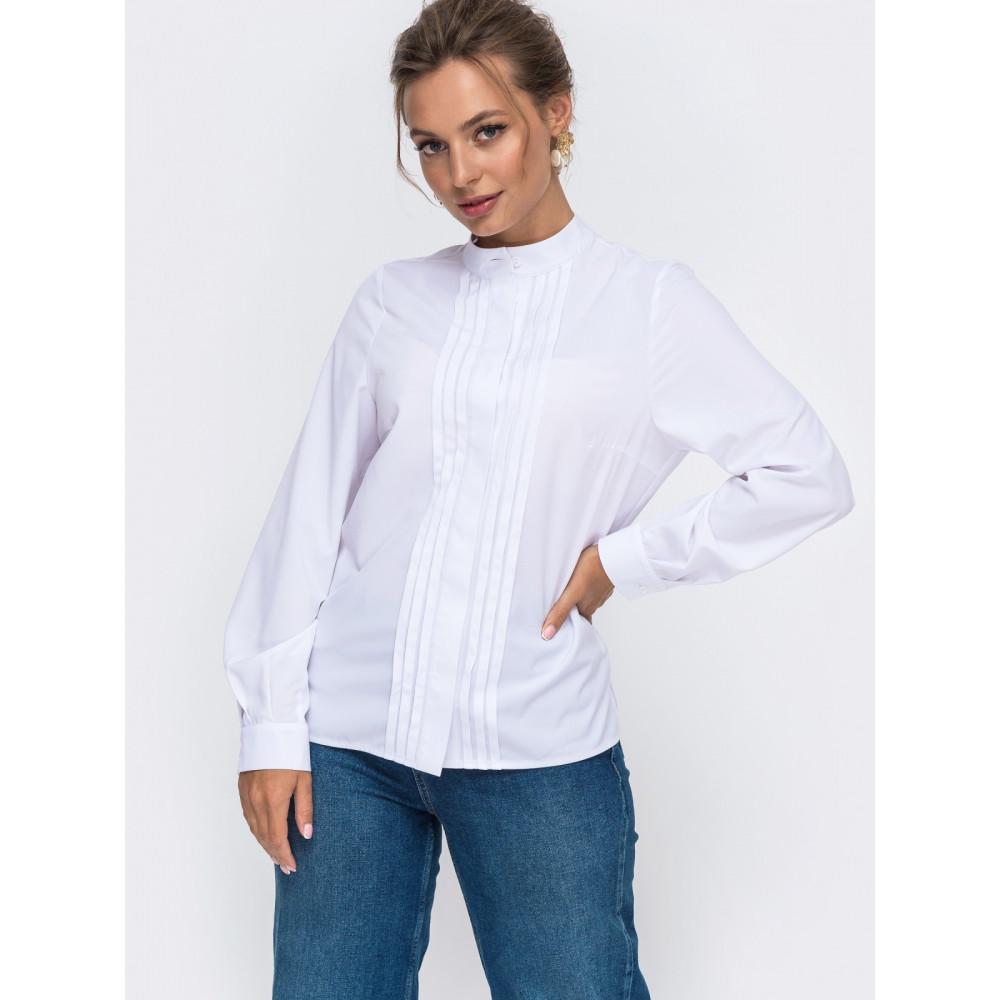 Белоснежная блуза с декором фото 1