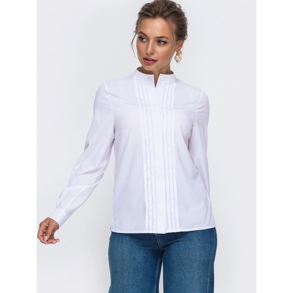 Белоснежная блуза с декором фото 2