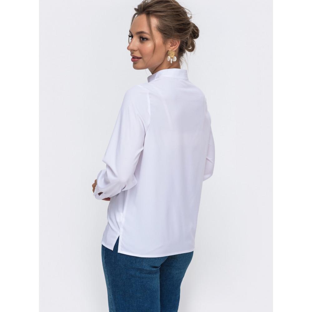 Белоснежная блуза с декором фото 3