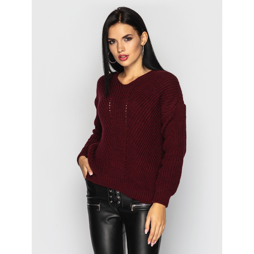 Бордовый свитер Paris фото 1