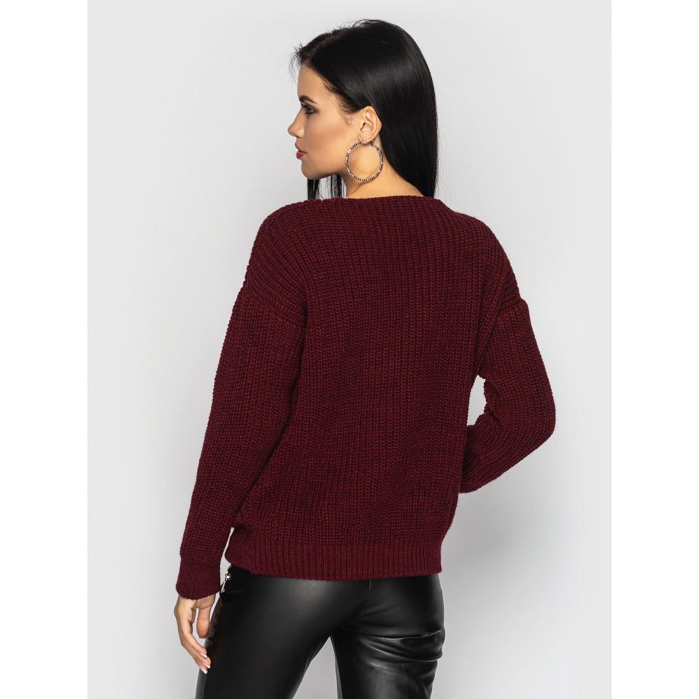 Бордовый свитер Paris фото 2