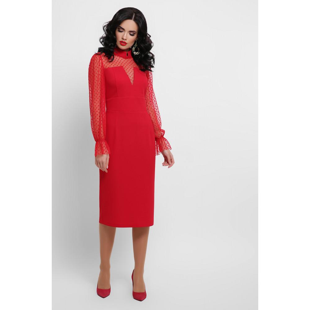 Алое платье Лукьяна фото 1