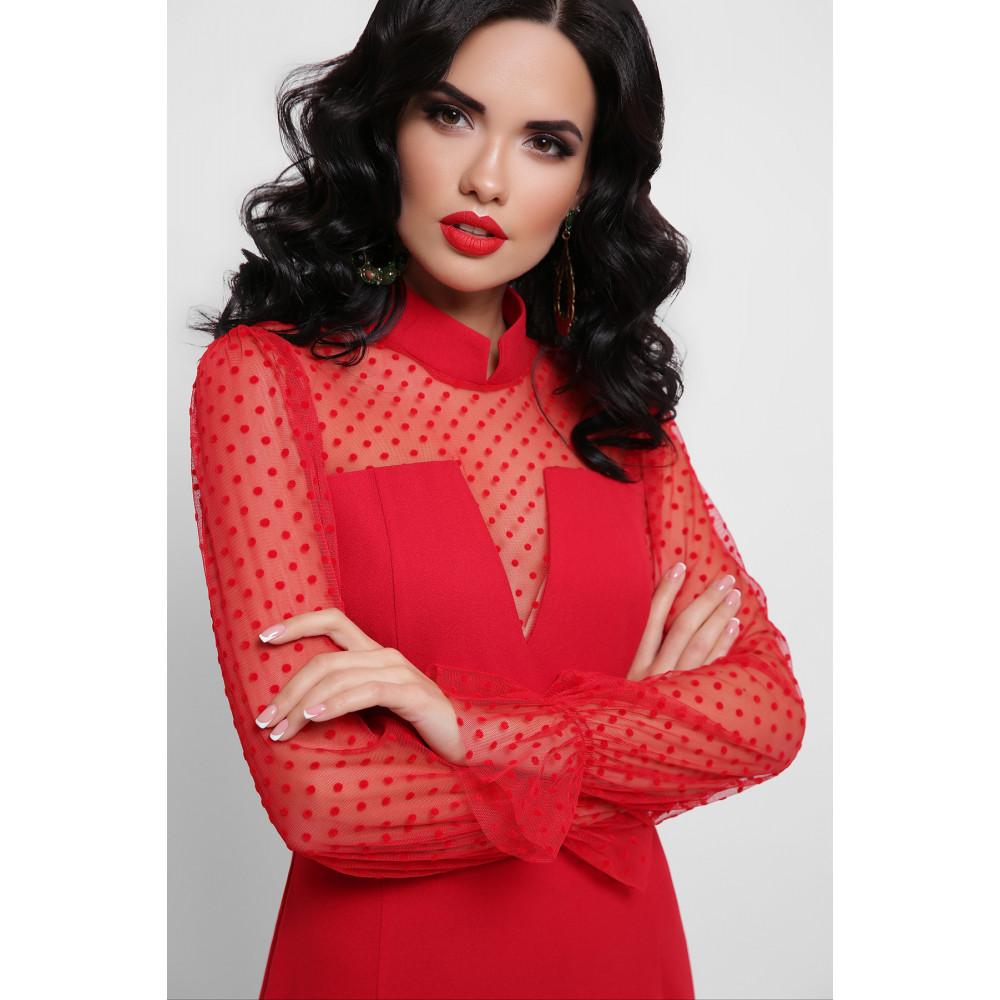 Алое платье Лукьяна фото 3