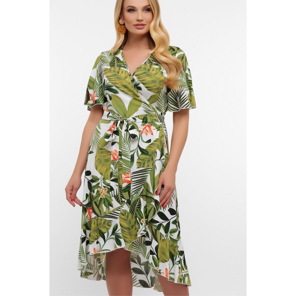 Легкое летнее платье с растительным принтом Алесия фото 2