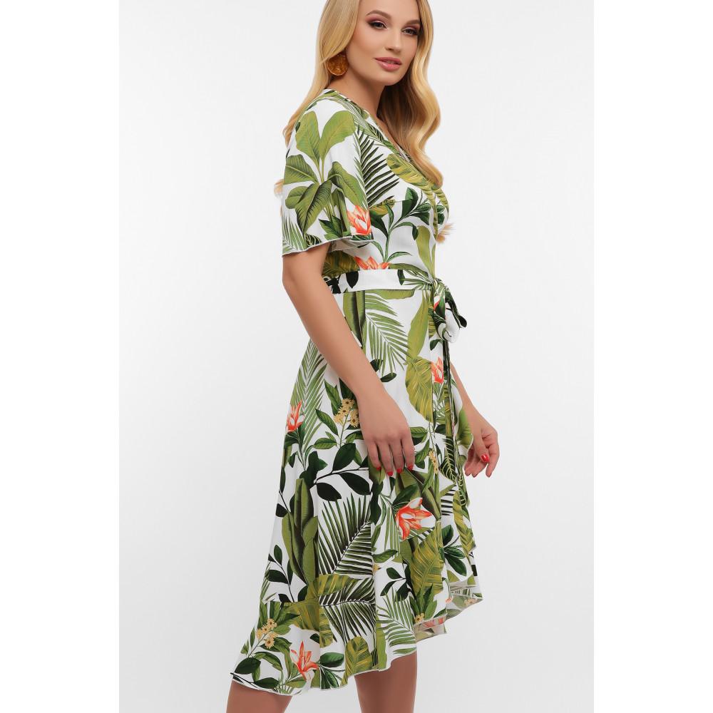 Легкое летнее платье с растительным принтом Алесия фото 3