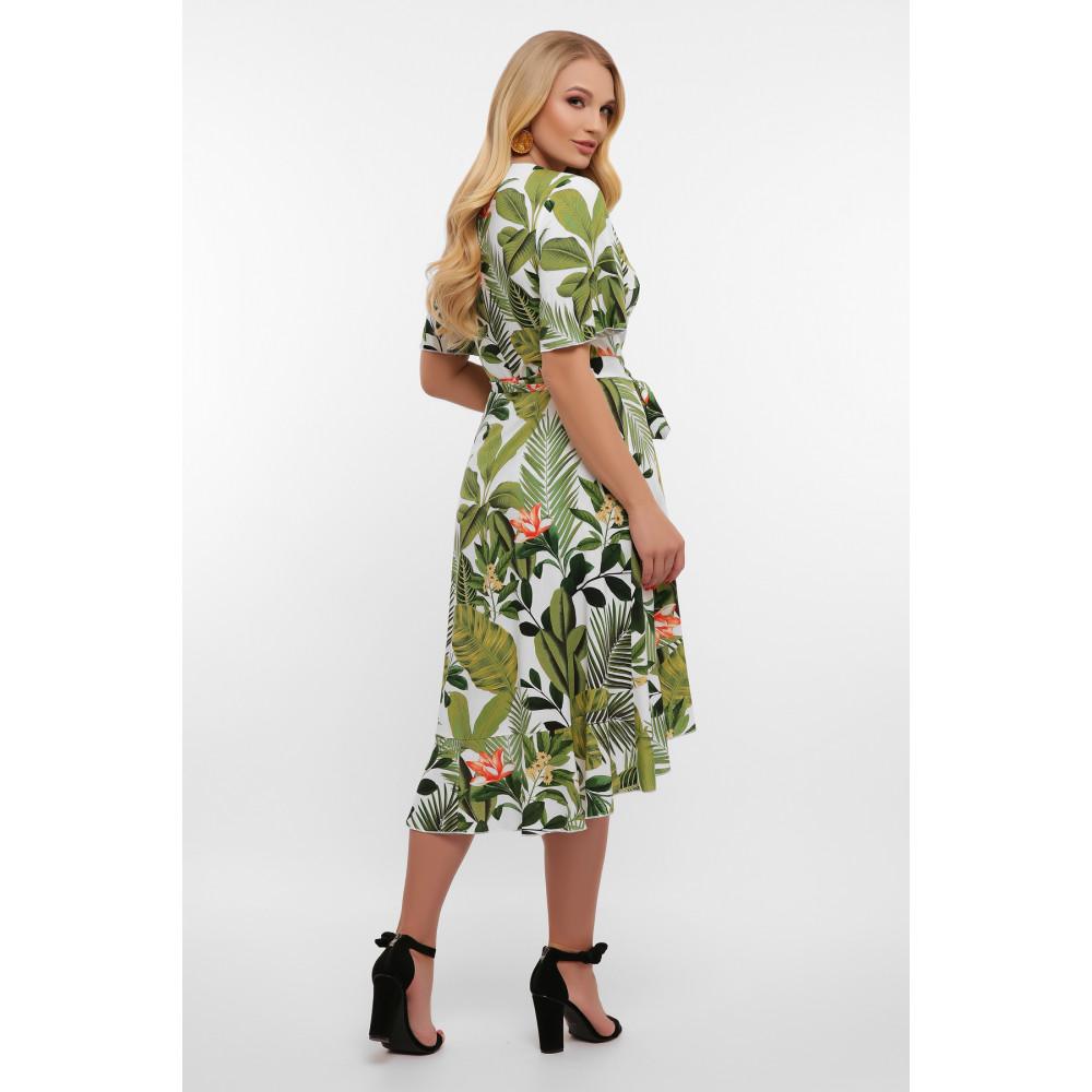 Легкое летнее платье с растительным принтом Алесия фото 4