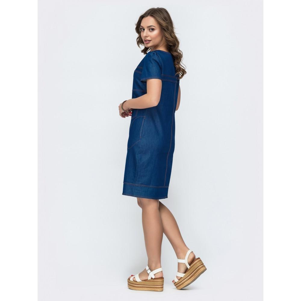 Джинсовое платье приталенного силуэта фото 2