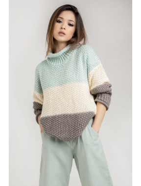 Вільний светр в широку смужку