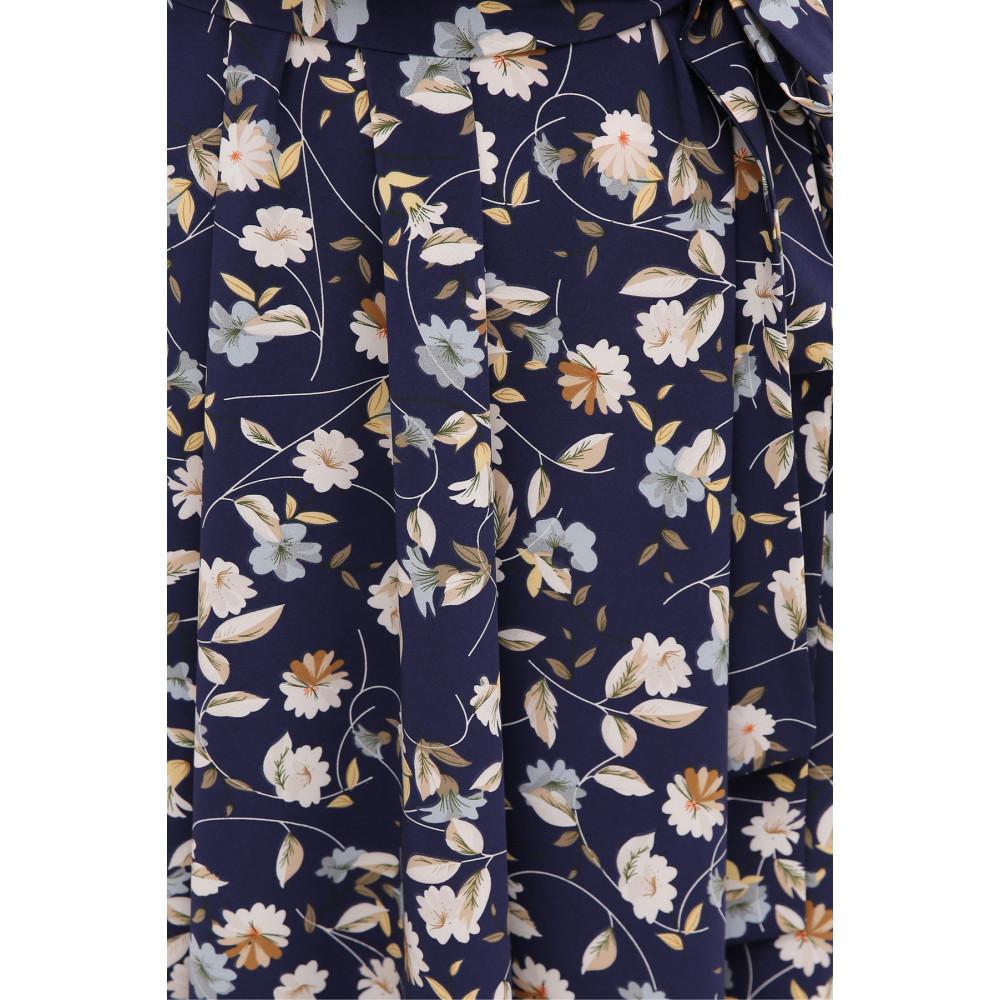 Стильное темно-синее платье в цветы Изольда фото 4