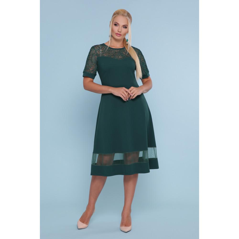 Изумрудное платье миди Аида фото 1