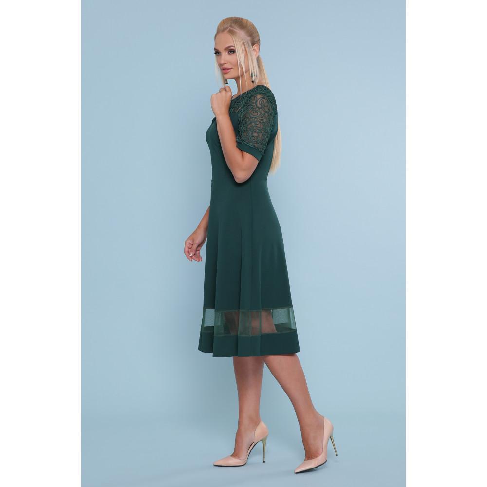 Изумрудное платье миди Аида фото 2