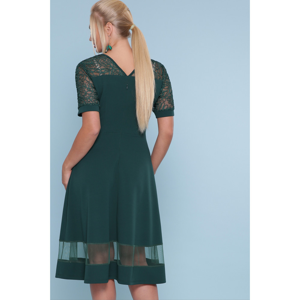 Изумрудное платье миди Аида фото 3