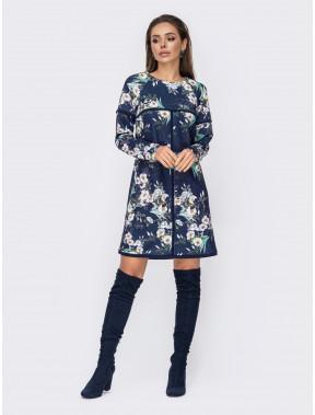 Затишна сукня-трапеція в принт Альдо