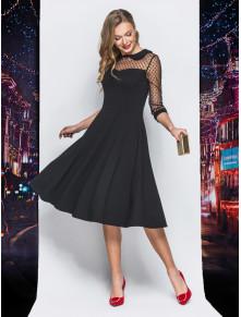 Елегантна сукня-міді чорного кольору
