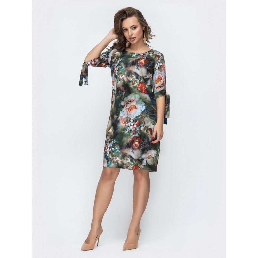 Женственное платье в цветы Аяна фото 1