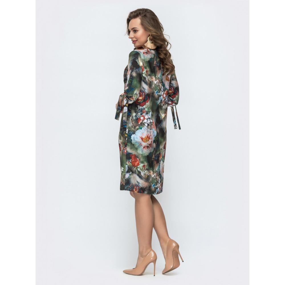 Женственное платье в цветы Аяна фото 2