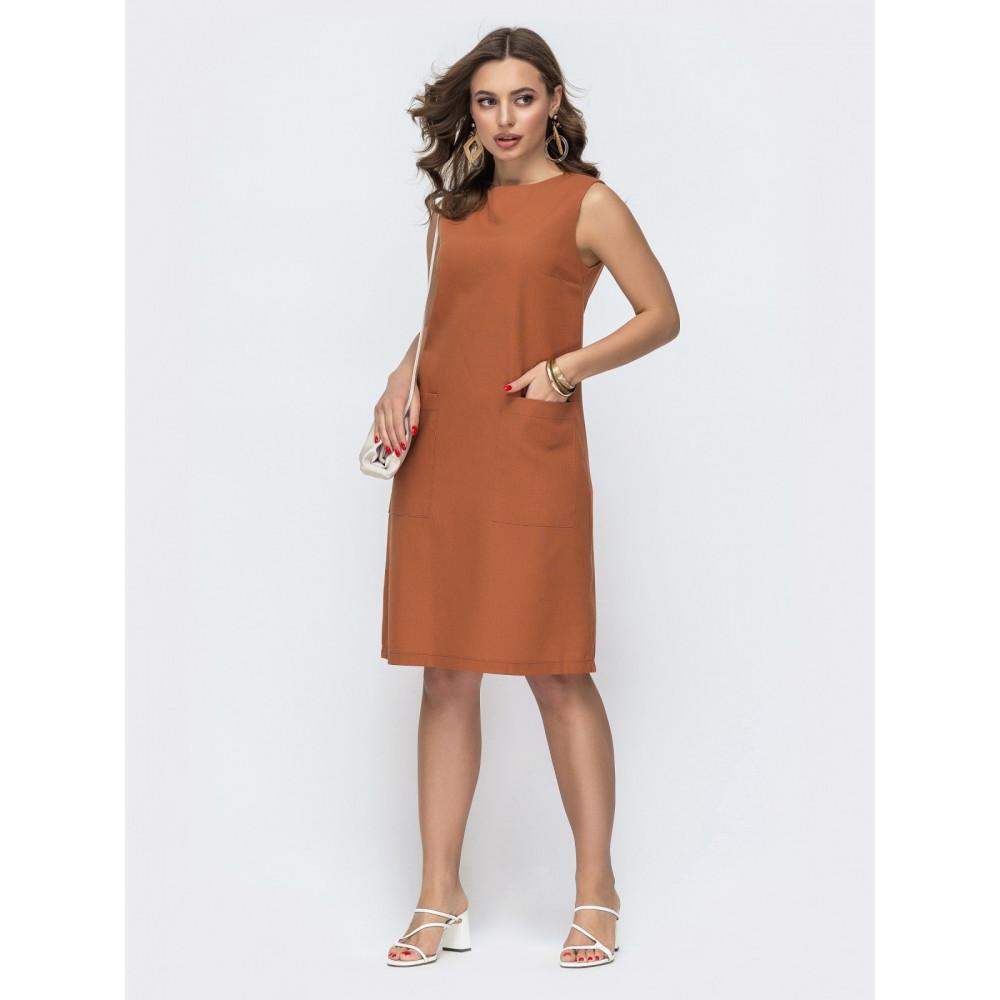 Базовое льняное платье прямого кроя фото 1