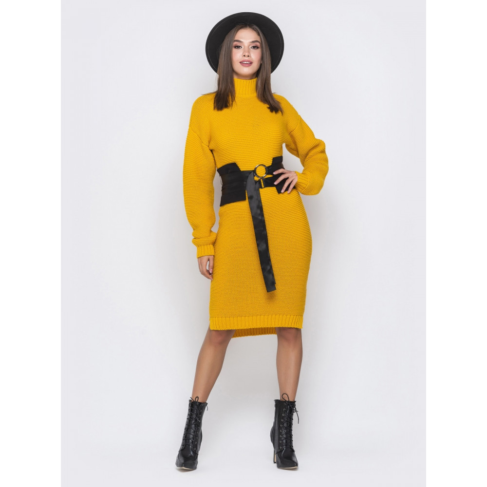 Гірчична сукня Селеста фото 1