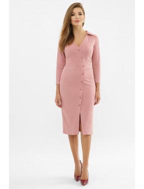 Розовое офисное платье-футляр Элвина