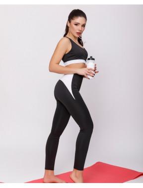 Черно-белый спортивный костюм с топом