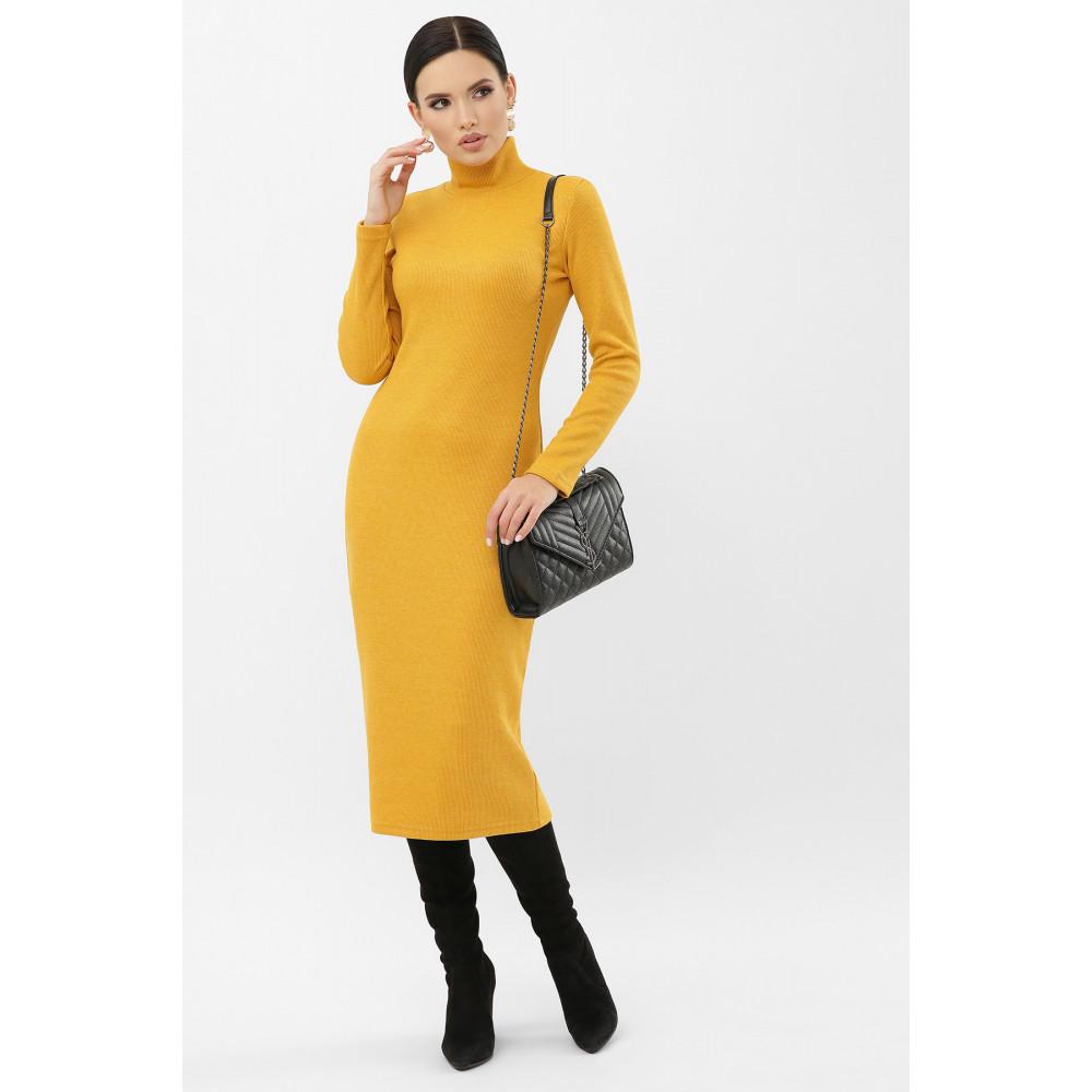 Горчичное платье из трикотажа Ульрика фото 1