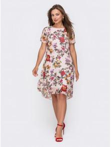 Шифонова сукня з подовженою спинкою