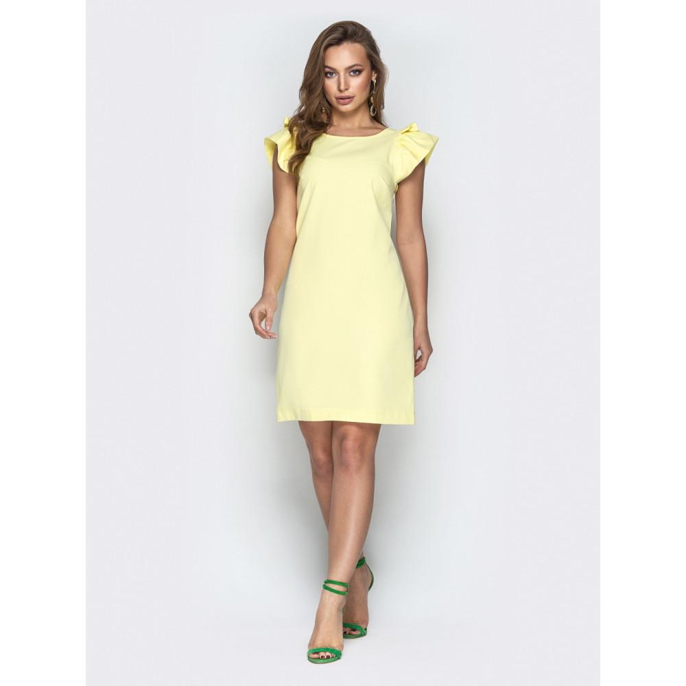 Желтое платье с вырезом на спинке Шарлотта фото 1