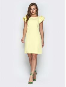 Жовта сукня з вирізом на спинці Шарлотта