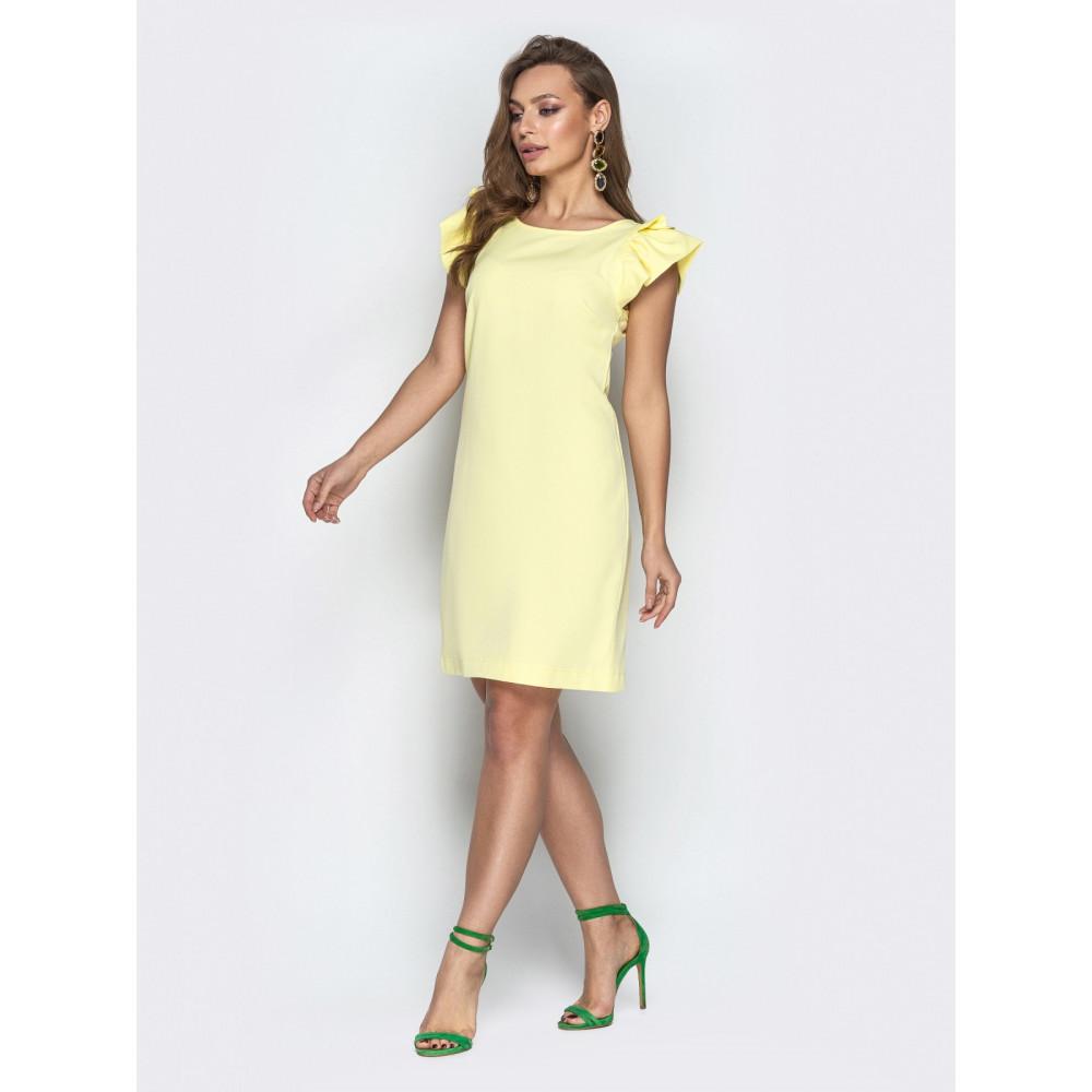 Желтое платье с вырезом на спинке Шарлотта фото 2