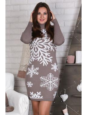 Тепла бежева сукня Сніжинка