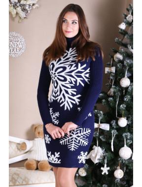 Тепла синя сукня Сніжинка