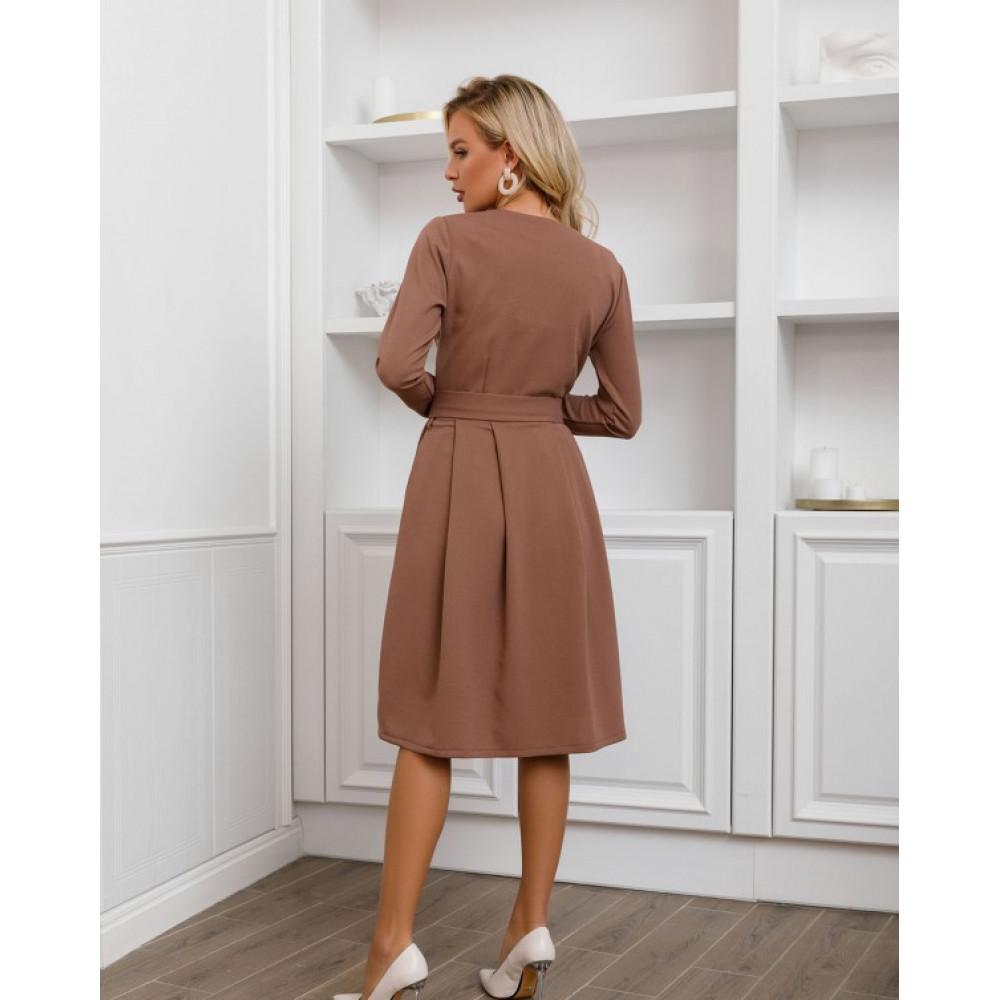 Базовое офисное платье-клеш Долорес фото 2