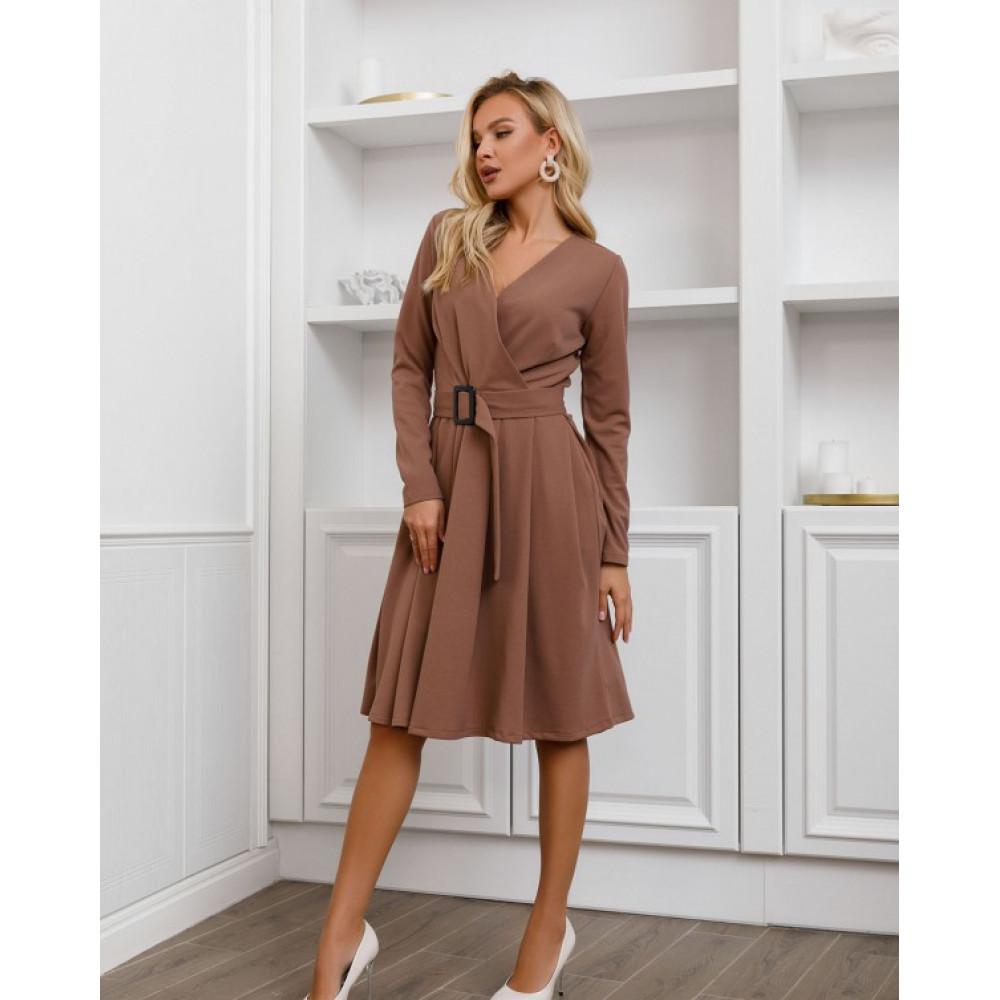 Базовое офисное платье-клеш Долорес фото 1