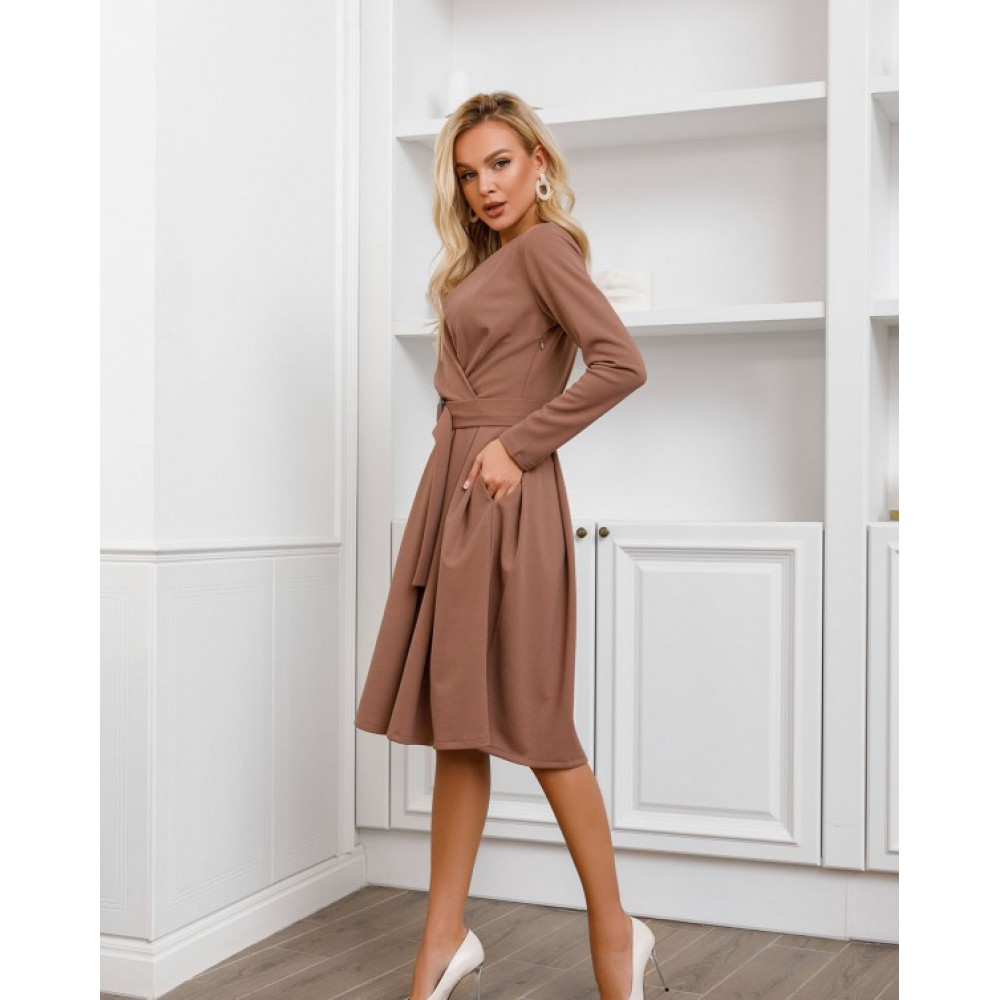 Базовое офисное платье-клеш Долорес фото 3