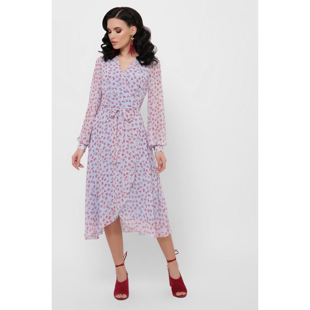 Красивое шифоновое платье с принтом Алеста фото 1