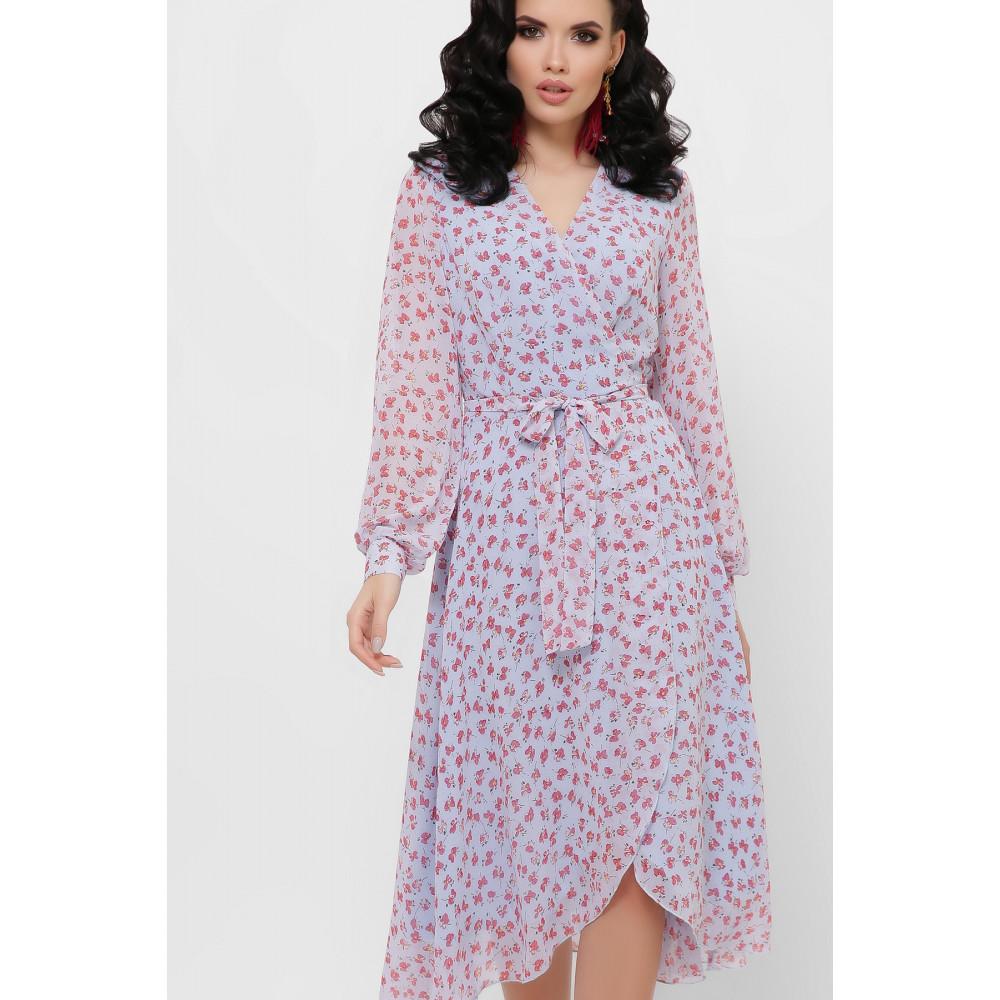 Красивое шифоновое платье с принтом Алеста фото 2